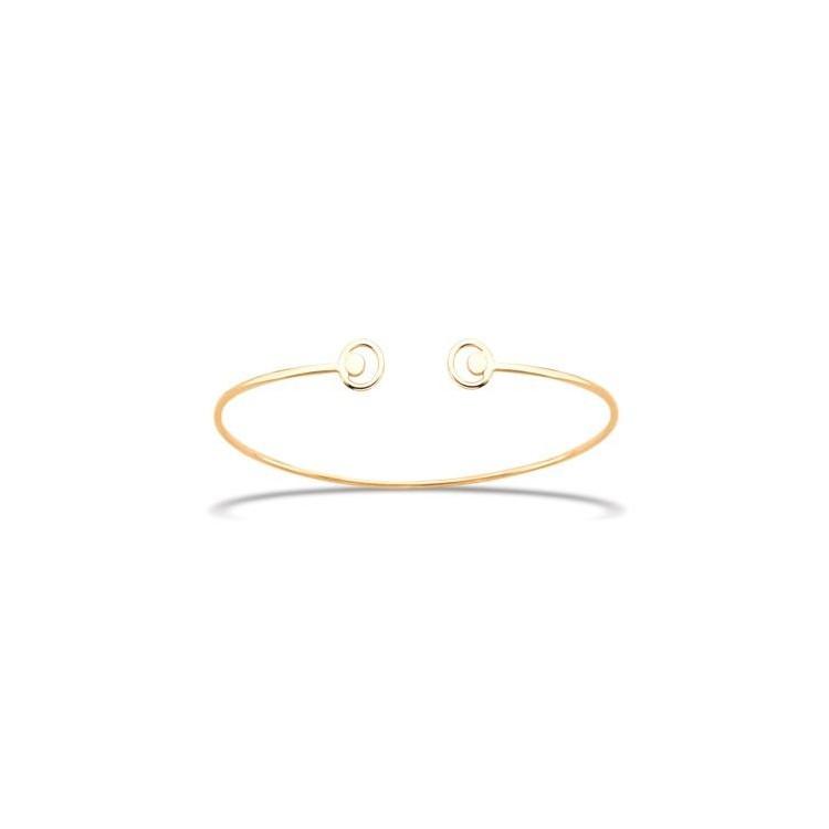 Bracelet  femme jonc ouvert Or jaune 18 carats
