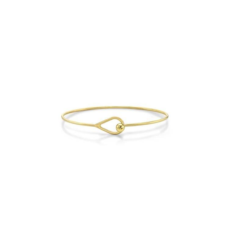 Bracelet  femme jonc ovale Or 18 carats