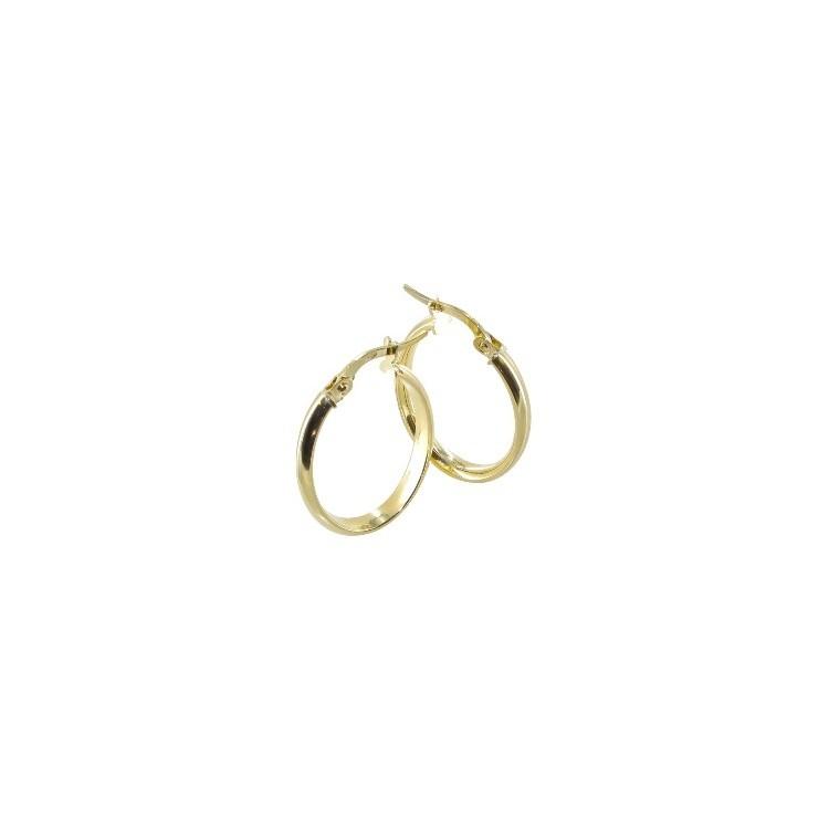 Boucle d'oreille Créole or ovale