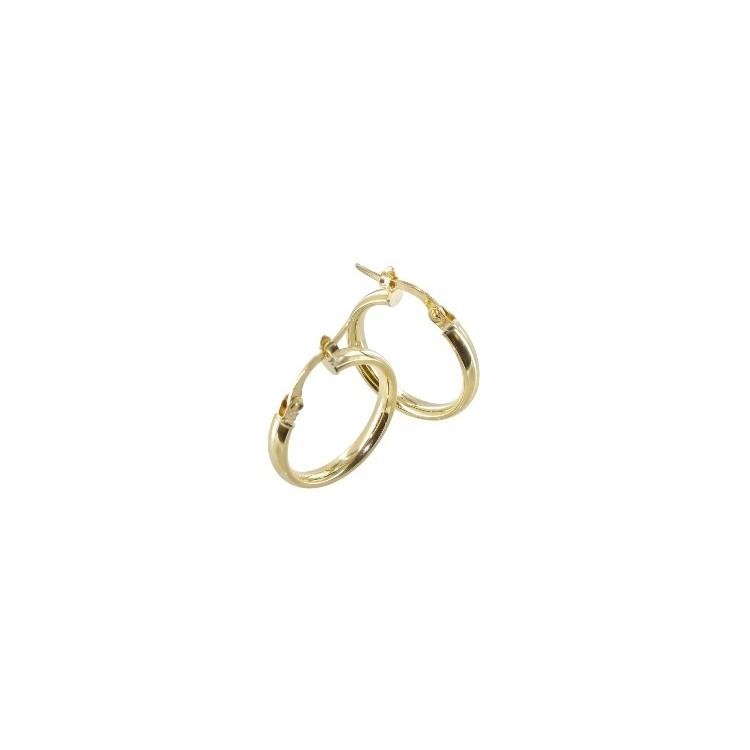 Boucles d'oreilles Créoles or 18 carats fil plat