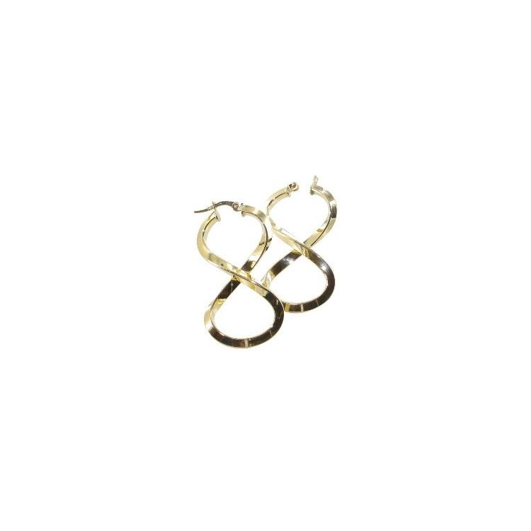 Créoles or 18 carats en huit fil triangle