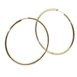 Boucles d'oreilles Créoles or 18 carats flexible