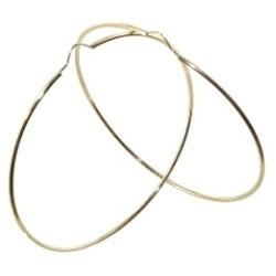 Boucles d'oreilles Créoles or 18 carats flexible lisse