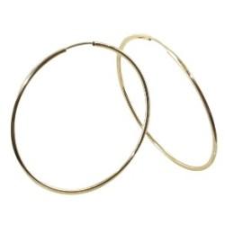 Boucles d'oreilles Créoles or 18 carats flexible lisse 1
