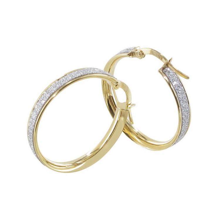 Boucles d'oreilles creoles or 20mm glitter