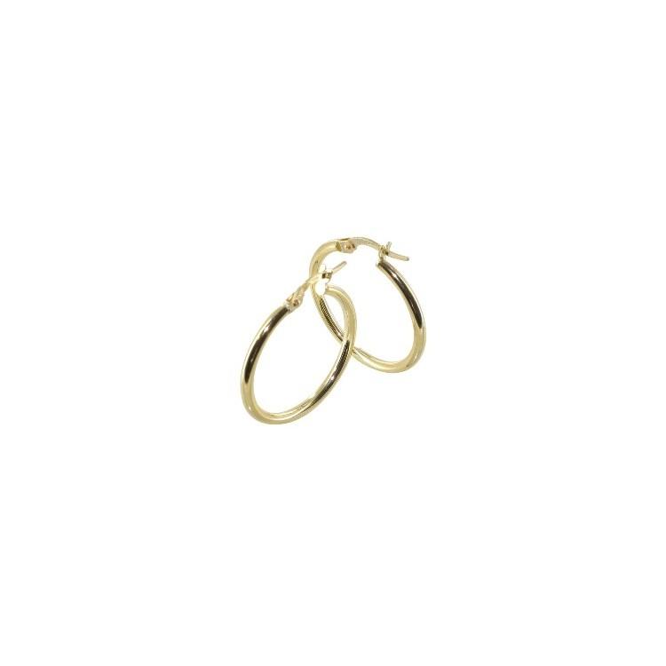 Boucles d'oreilles Créoles or 18 carats lisse ronde
