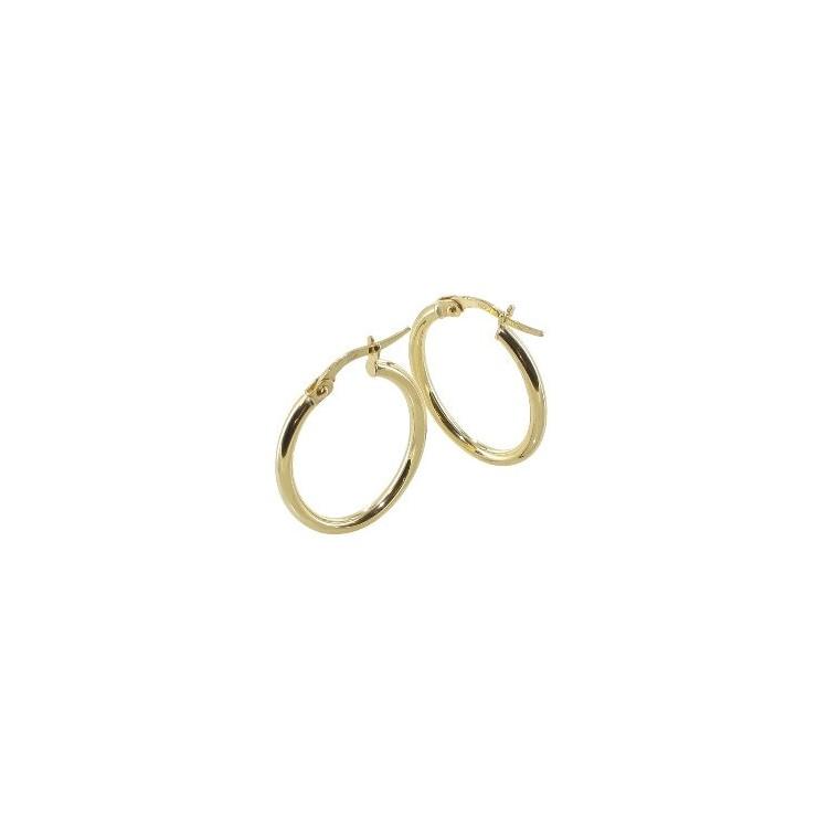 Boucles d'oreilles Créoles or 18 carats ovale