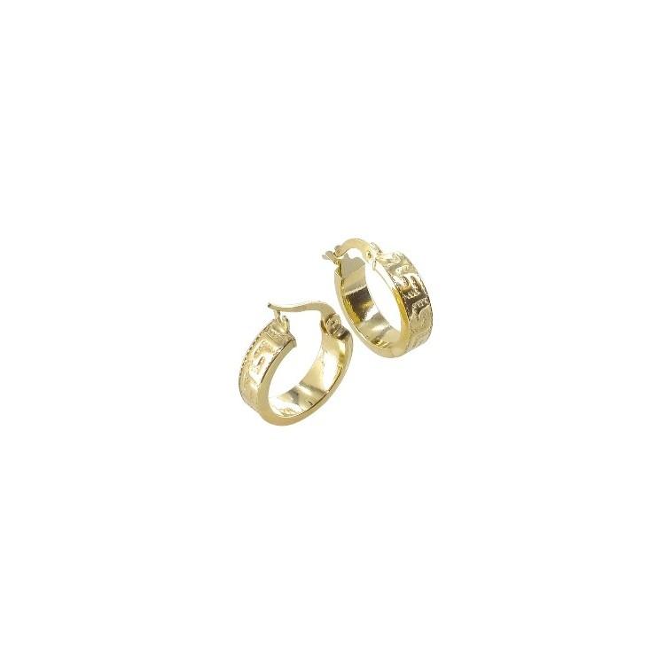 Boucles d'oreilles Créoles or 18 carats étrusque
