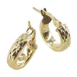 Boucles d'oreilles Créoles or 18 carats ananas