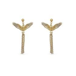 Boucles d'oreilles plaqué or eagle royal