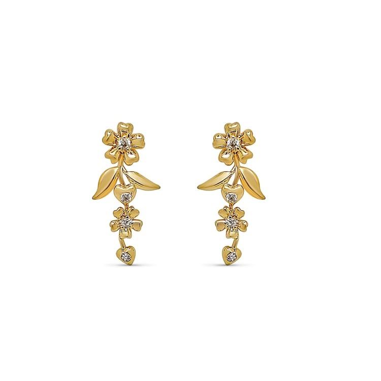 Boucles d'oreilles plaqué or branche