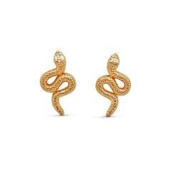 Boucles d'oreilles  plaqué or serpent