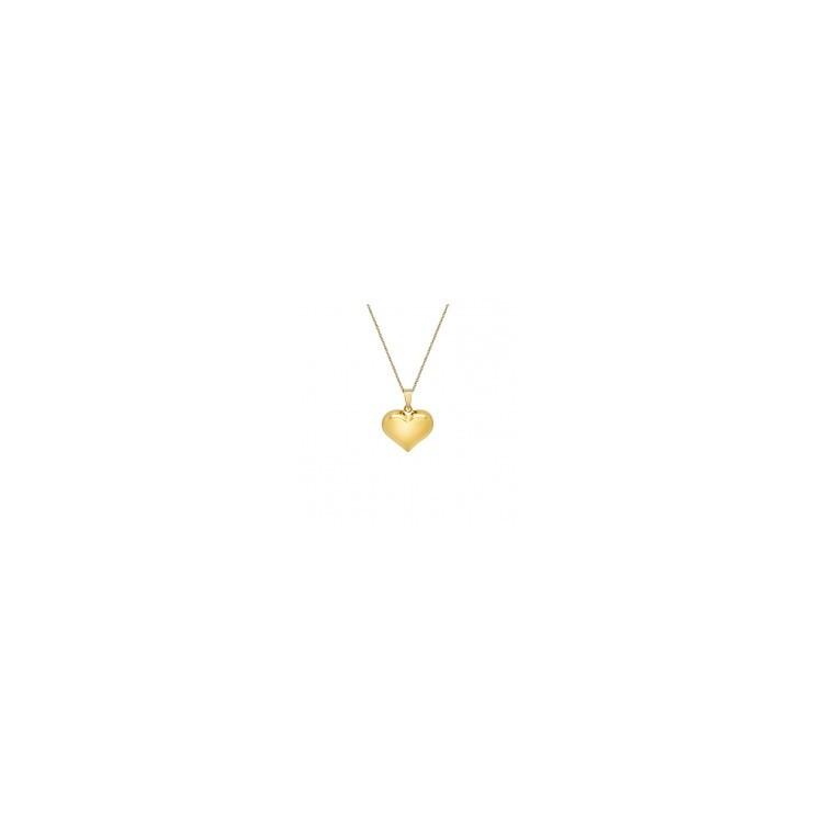 collier plaqué or femme cœur