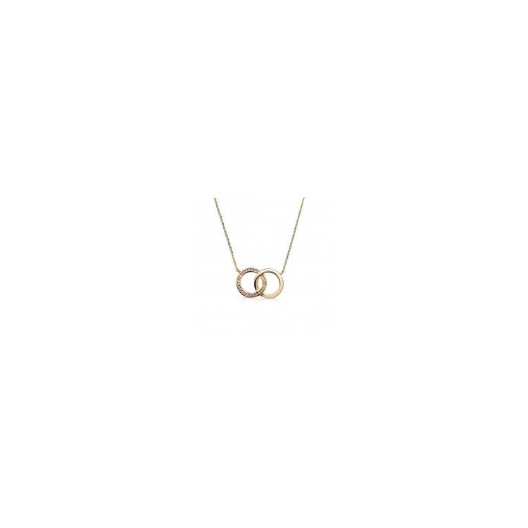 collier plaqué or femme double cercle