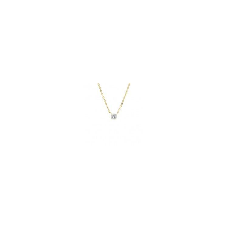 Collier plaqué or pendentif oxyde de zirconium