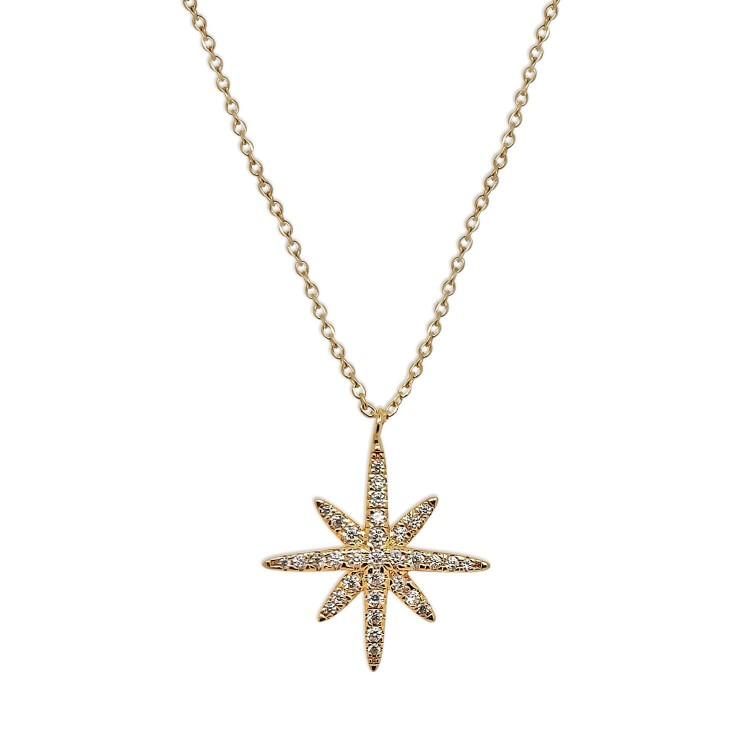 Collier plaqué or femme étoile
