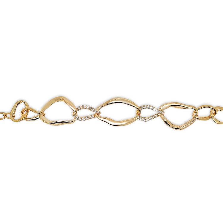 bracelet gourmette plaqué or18k