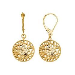 Boucles d'oreilles en or arbre de vie