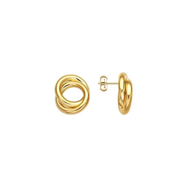Boucles d'oreilles or doubles cercles