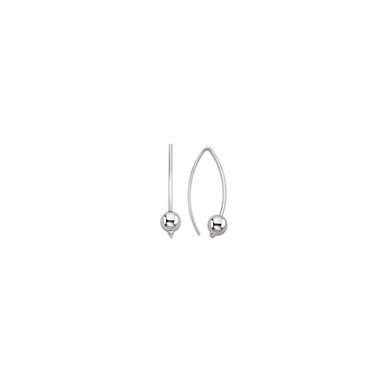 boucles d'oreilles Pendantes argent boule