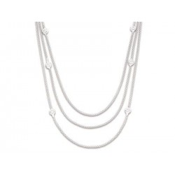 Collier 3 rangs argent pop corn