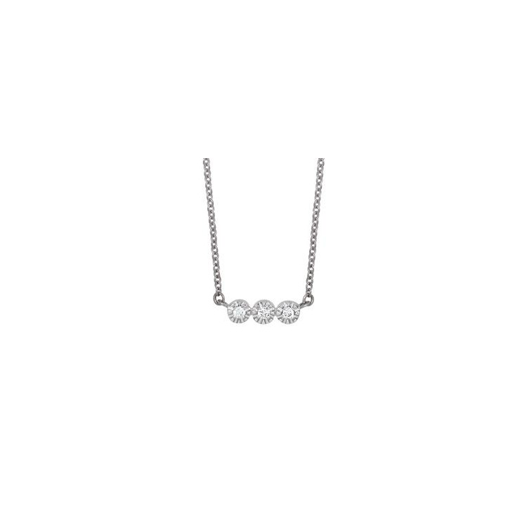 Collier or blanc diamant
