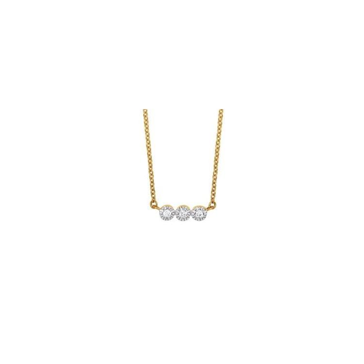 Collier or femme 18 carats et diamants