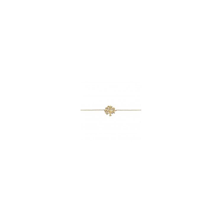 Bracelet femme plaqué or arbre de vie