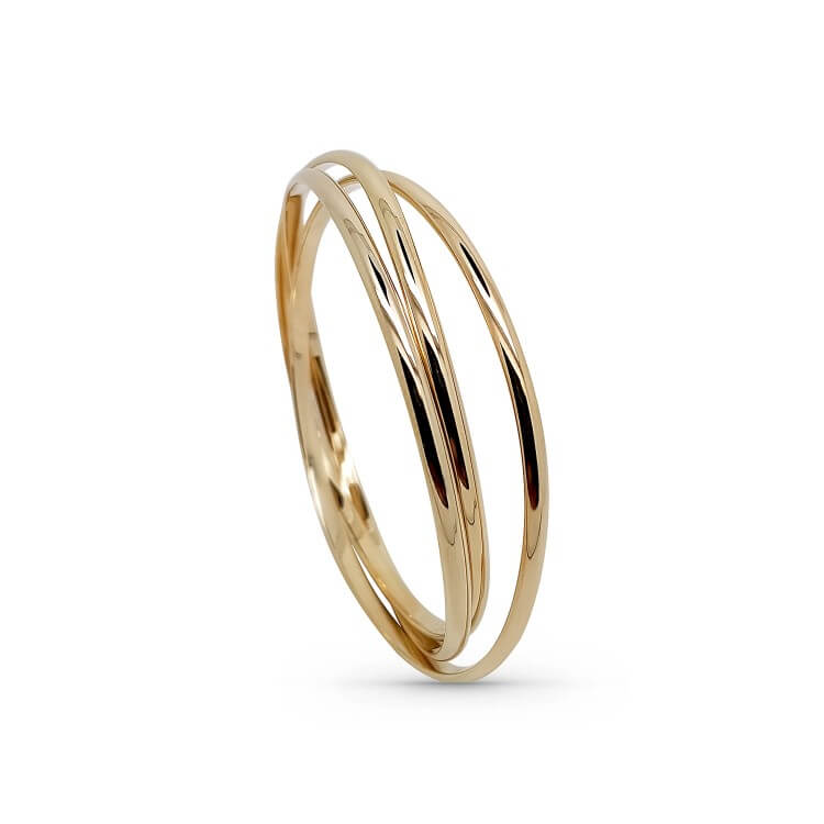 bracelet jonc rigide plaqué or