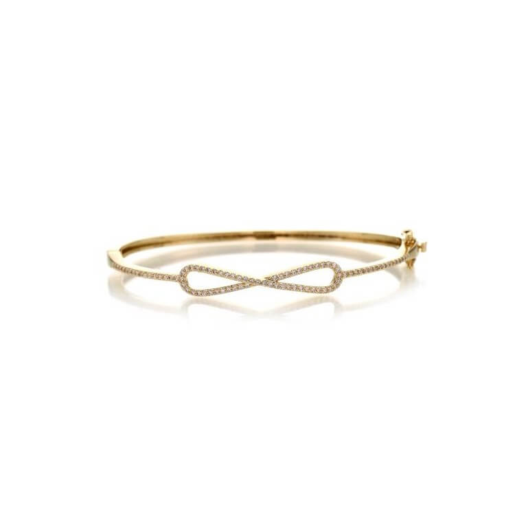Bracelet jonc infini plaqué or