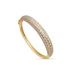 Bracelet jonc mariage plaqué or