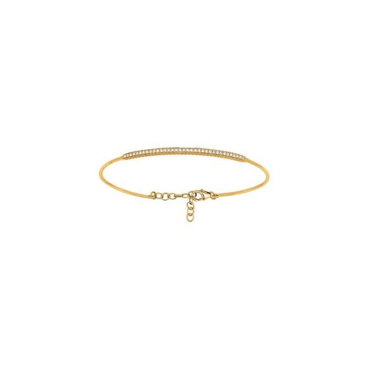 Bracelet jonc Or 18 carats et Diamants