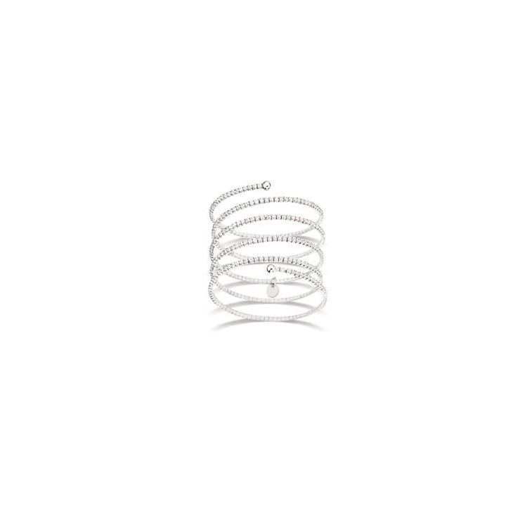 Bracelet manchette femme argent 5 tours