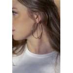 Boucles d'oreilles créole or 60mm lisse