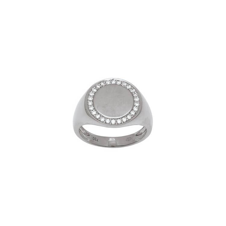 copy of Chevalière diamants ronde
